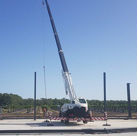 12T Slew Crane Hire - Elevates - Brisbane, Wide Bay