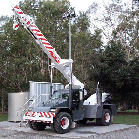 15T Franna Crane Hire - Elevates - Brisbane, Wide Bay