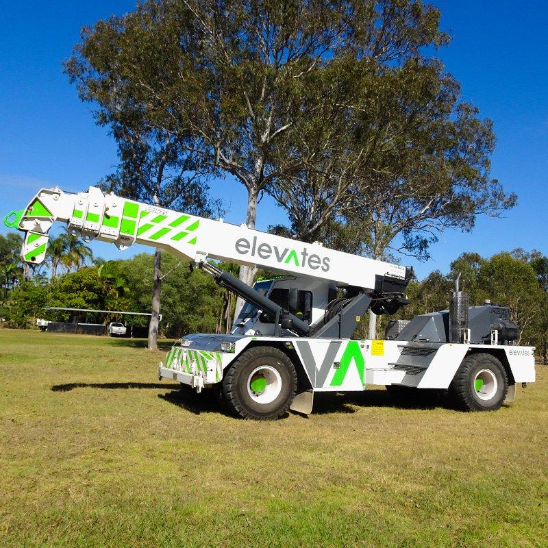 Elevates - Crane Hire - Brisbane - Moreton - Wide Bay-Sunshine Coast - Burpengary- 20T Franna Crane Hire