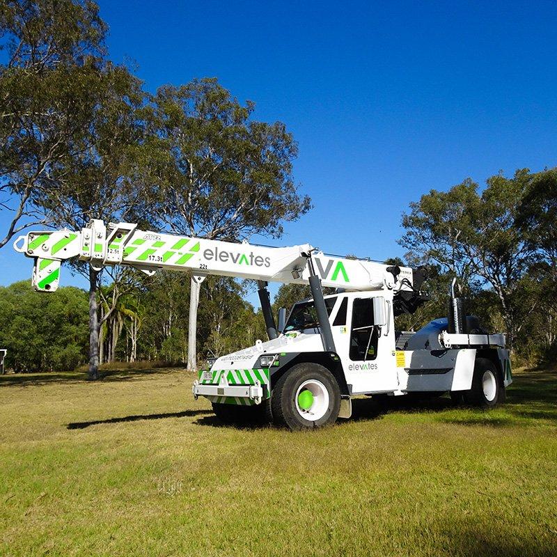 Elevates - Crane Hire - Brisbane - Moreton - Wide Bay-Sunshine Coast - Burpengary- 22T Franna Crane Hire