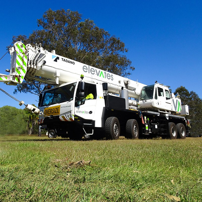 Elevates - Crane Hire - Brisbane - Moreton - Wide Bay-Sunshine Coast - Burpengary- 60T Slew Crane Hire