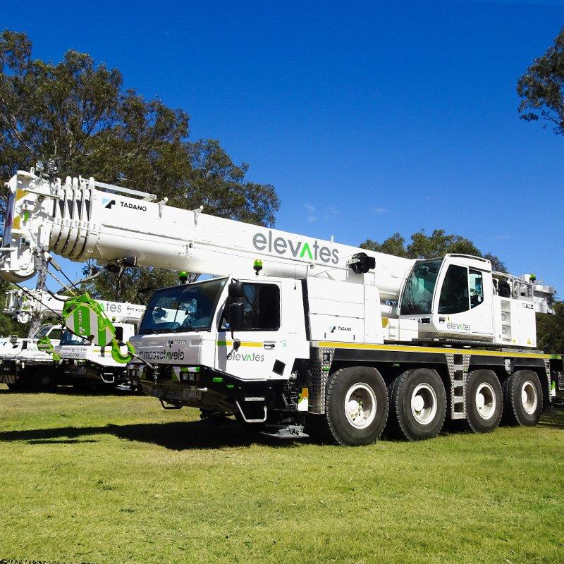 Elevates - Crane Hire - Brisbane - Moreton - Wide Bay-Sunshine Coast - Burpengary- 70T Slew Crane Hire
