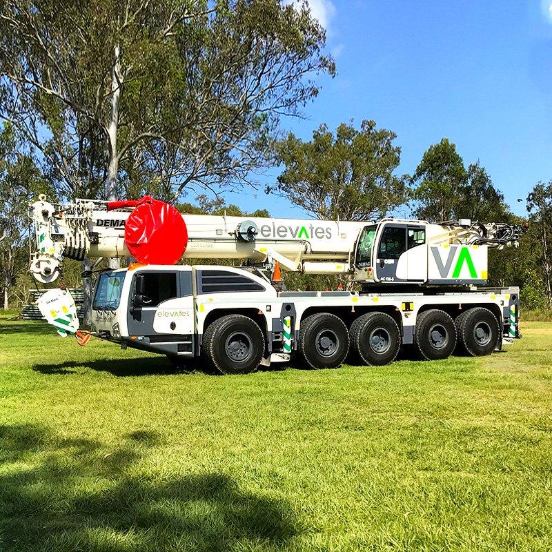 Elevates - Crane Hire - Brisbane - Moreton - Wide Bay-Sunshine Coast - Burpengary- 130 Tonne Crane Hire